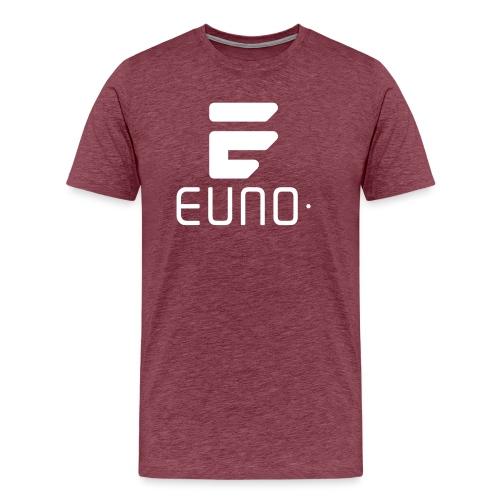 EUNO LOGO POTRAIT WHITE - Men's Premium T-Shirt