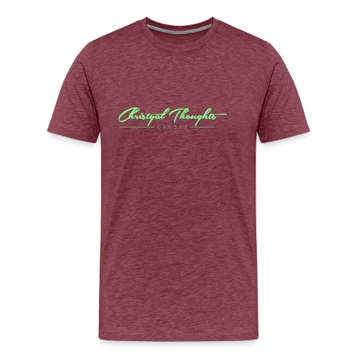 Christyal Thoughts C3N3T31 Lime png - Men's Premium T-Shirt