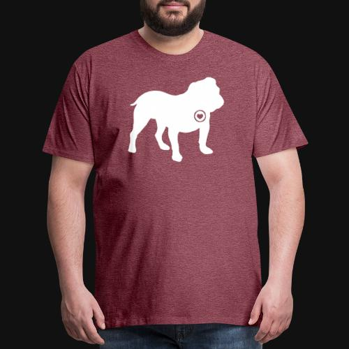 Bulldog love - Men's Premium T-Shirt
