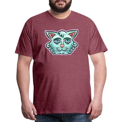 Happy Cat Teal - Men's Premium T-Shirt