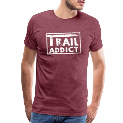 Trail Addict Logo White - Men's Premium T-Shirt