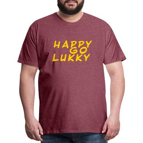 HGL Plain letter design yellow - Men's Premium T-Shirt