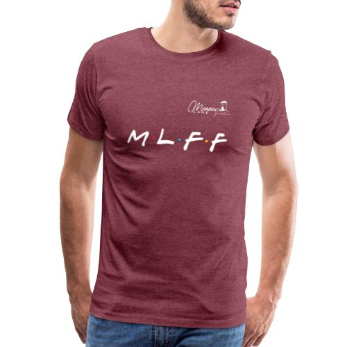 MLFF with logo white - Men's Premium T-Shirt