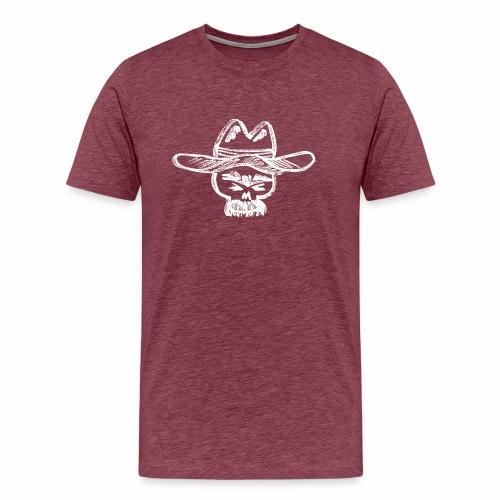 Ranchero Skull (White) - Men's Premium T-Shirt