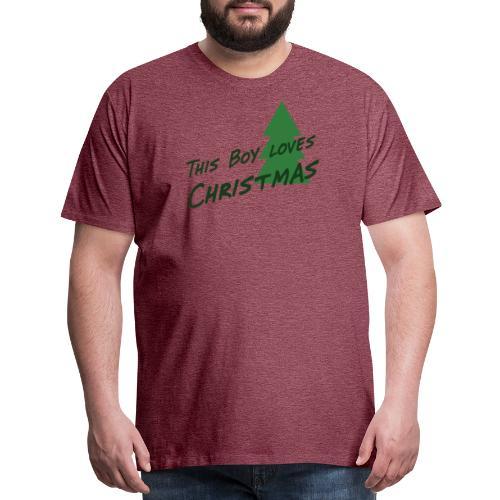 This Boy loves Christmas - Men's Premium T-Shirt