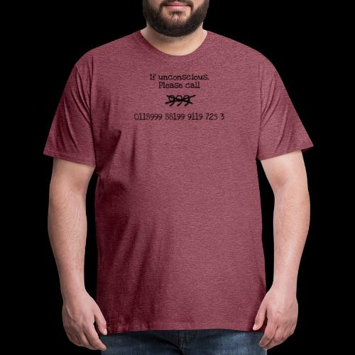 New Emergency Number - Men's Premium T-Shirt