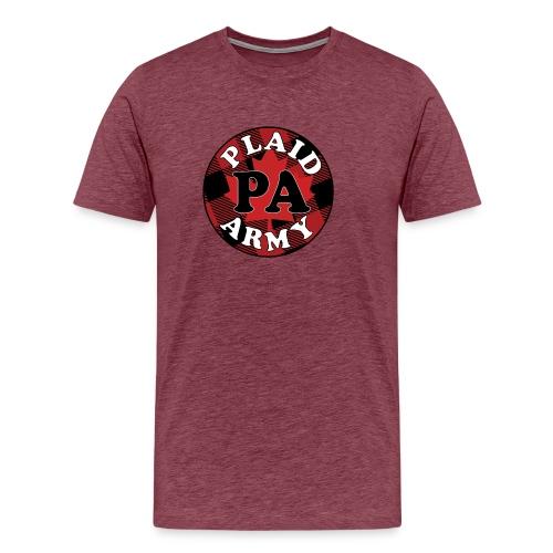 plaid army round - Men's Premium T-Shirt