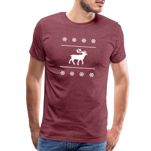 Reindeer with snowflakes - Men's Premium T-Shirt