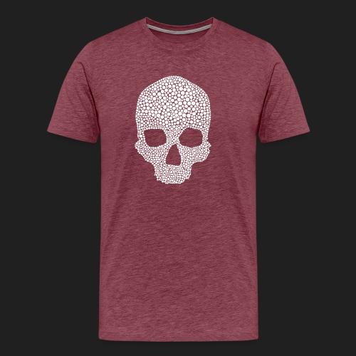 Scarlet Bones Hex Design - Men's Premium T-Shirt