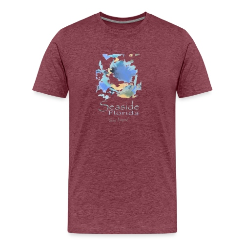 Seaside Shirt Design 5 no border - Men's Premium T-Shirt