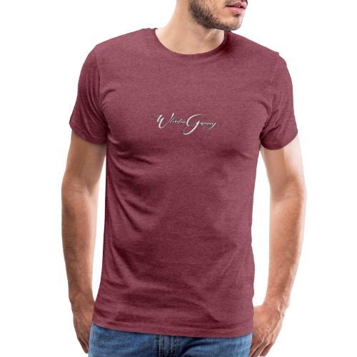 Who Stun Gaming, small calligraphy - Men's Premium T-Shirt