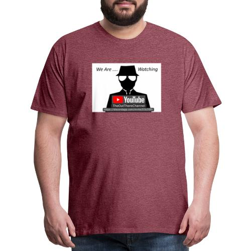 MibTheOutThereChannel v2 2019 with Crew Back Logo - Men's Premium T-Shirt