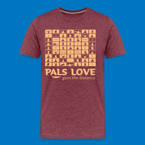 PALS Love Goes The Distance: Summer 2020 Apparel - Men's Premium T-Shirt