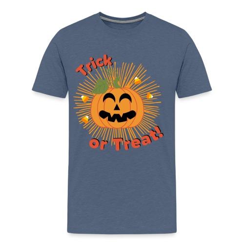 Halloween Trick Or Treat Jack-O-Lantern Pumpkin - Men's Premium T-Shirt