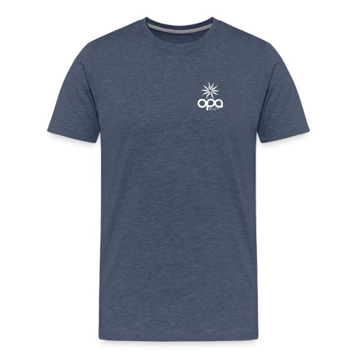 Short Sleeve T-Shirt with small all white OPA logo - Men's Premium T-Shirt