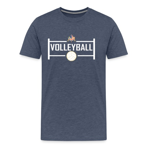Block City Volleyball Design - Men's Premium T-Shirt
