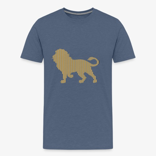 Lion Line Art - Men's Premium T-Shirt