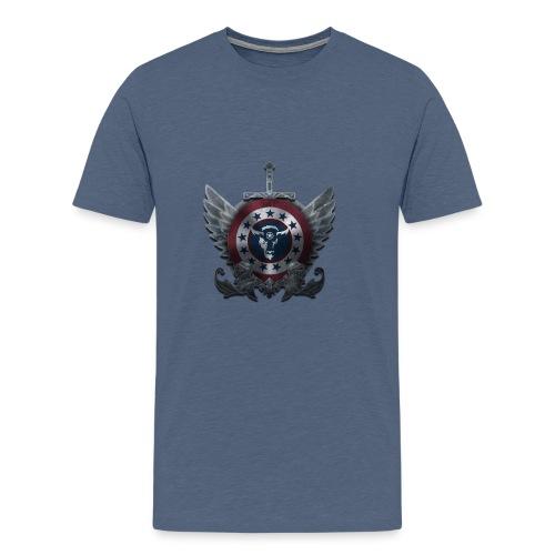 Guardians of America - Medium Logo - Men's Premium T-Shirt