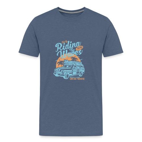 Riding The Waves - Men's Premium T-Shirt