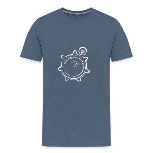 Athlete Engineers Stopwatch - White - Men's Premium T-Shirt