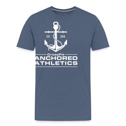 CrossFit Anchored Athletics White Vertical - Men's Premium T-Shirt