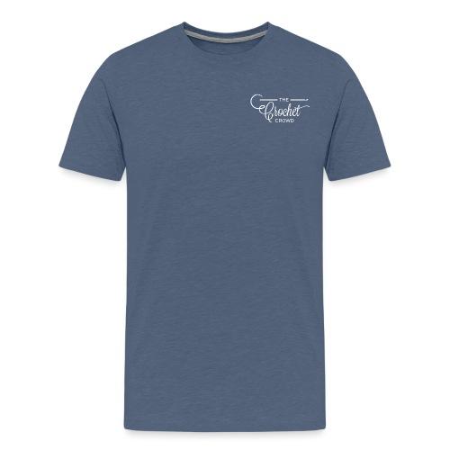 The Crochet Crowd Logo Wh - Men's Premium T-Shirt