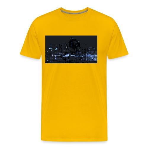 detroit skyline abstract - Men's Premium T-Shirt