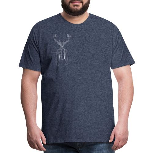 Hipster Stag - Men's Premium T-Shirt