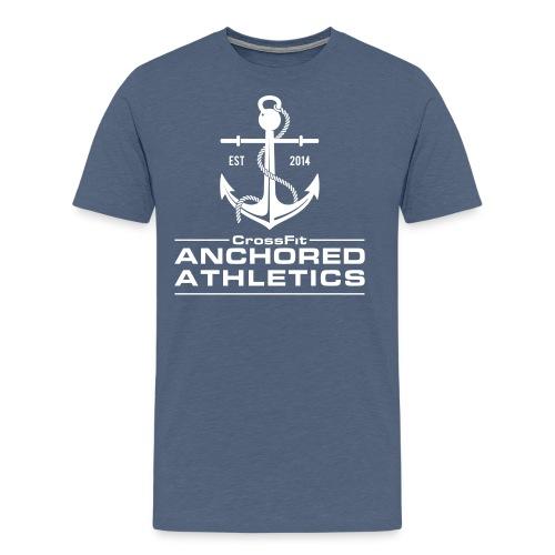 CrossFit Anchored Athletics White Vertical - Men's Premium T-Shirt