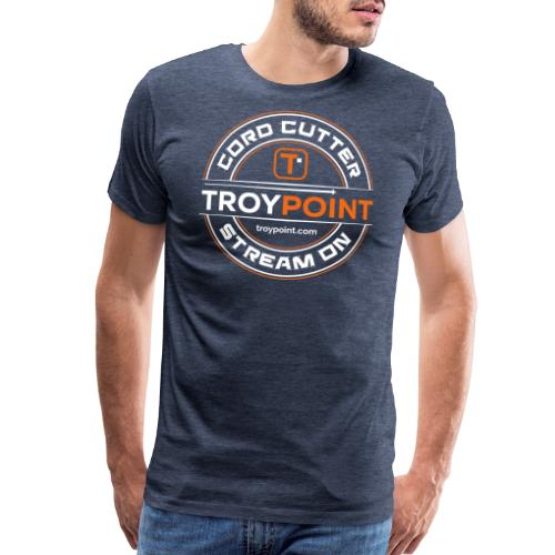 TROYPOINT Cord Cutter - Orange Logo - Men's Premium T-Shirt