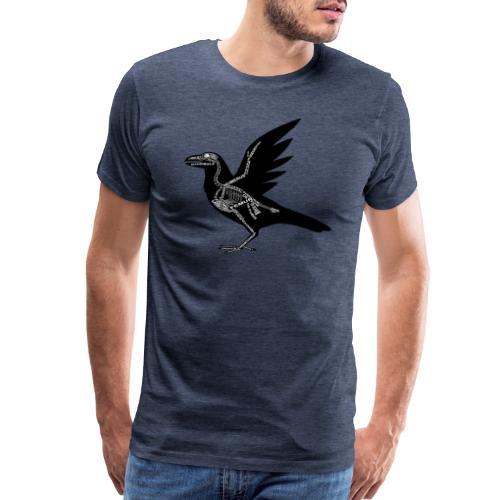 Skeleton Raven - Men's Premium T-Shirt