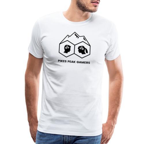 Pikes Peak Gamers Logo (Transparent Black) - Men's Premium T-Shirt