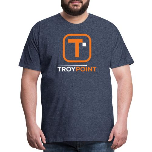 TROYPOINT Orange Logo - Men's Premium T-Shirt