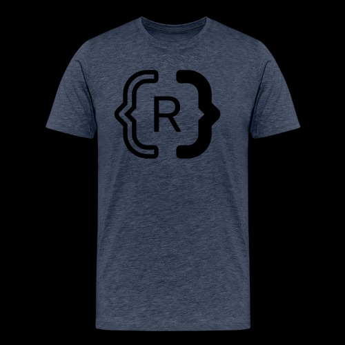 square black reswitched R logo bmx3r - Men's Premium T-Shirt