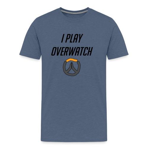 iplayoverwatch png - Men's Premium T-Shirt