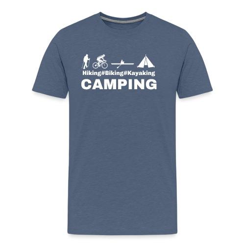 hiking biking kayaking and camping - Men's Premium T-Shirt