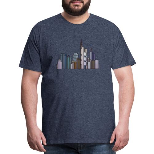 Frankfurt skyline - Men's Premium T-Shirt