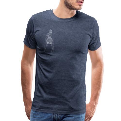 Hipster Rabbit White - Men's Premium T-Shirt