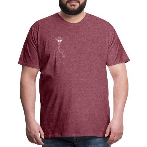 Hipster Giraffe White - Men's Premium T-Shirt