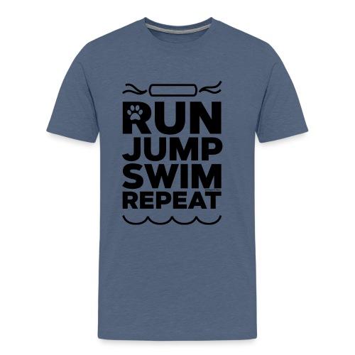 Run Jump Swim Repeat - black imprint - Men's Premium T-Shirt