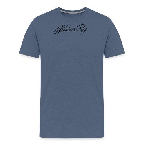 Crystal and Ray logo - Men's Premium T-Shirt