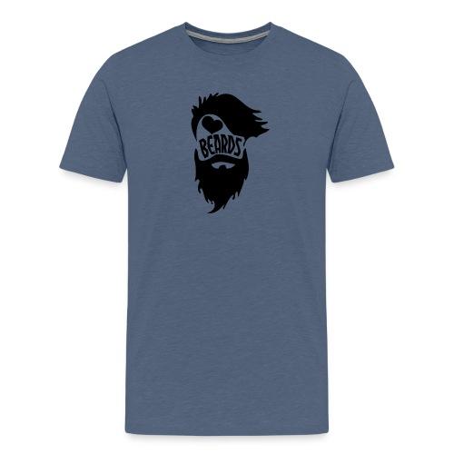 I Love Beards - Men's Premium T-Shirt