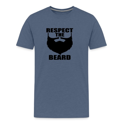 Respect the beard 03 - Men's Premium T-Shirt