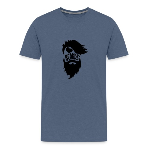 I Love Beards - Men's Premium T-Shirt