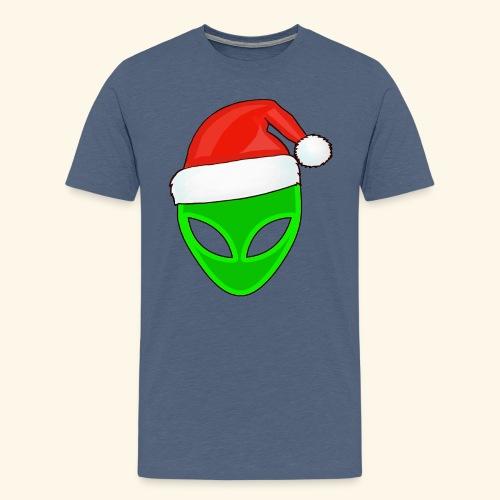 Santa Hat Alien - Men's Premium T-Shirt