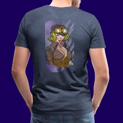 Steampunk girl - Men's Premium T-Shirt