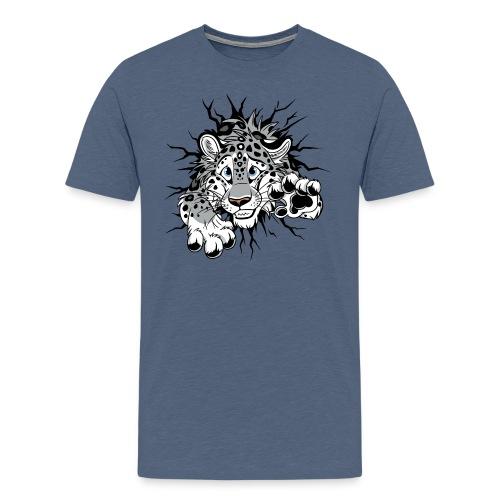 STUCK Snow Leopard (double-sided) - Men's Premium T-Shirt