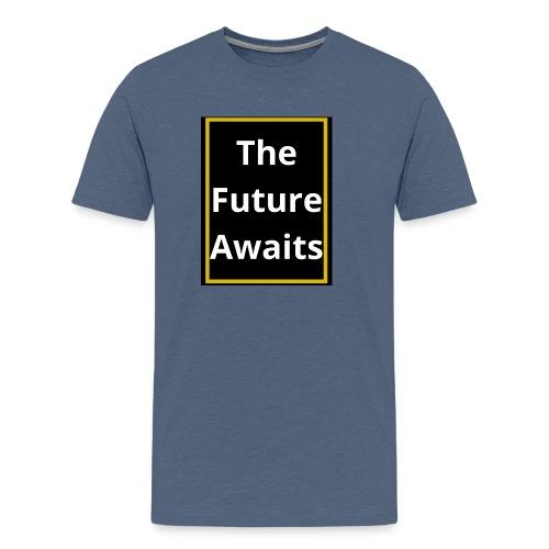 Ouwais Vlogs Merchandise (Gold Edition) - Men's Premium T-Shirt