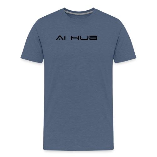 Sad at Computer - Men's Premium T-Shirt