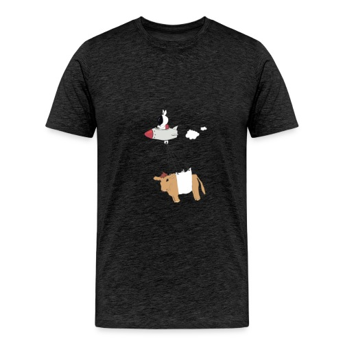 Space bunny with take out - Men's Premium T-Shirt